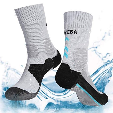 Layeba 100% Waterproof Breathable Socks [SGS Certified] Unisex Outdoor Sports Hiking Trekking Skiing Socks 1 Pair & 2 Pairs