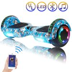 """SISIGAD Hoverboard Self Balancing Scooter 6.5"""" Two-Wheel Self Balancing Hoverboard with Bluetooth Speaker and LED Lights Electric Scooter for Adult"""