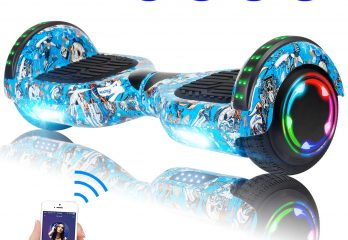 "SISIGAD Hoverboard Self Balancing Scooter 6.5"" Two-Wheel Self Balancing Hoverboard with Bluetooth Speaker and LED Lights Electric Scooter for Adult"