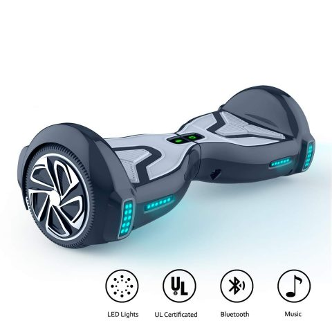 "TOMOLOO Hoverboard for Kids and Adult, 6.5"" Two Wheels App Controlled Electric Self Balancing Scooter UL2272 Certified"