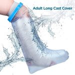 Waterproof Leg Cast Cover for Shower. Reusable, Thick Adjustable Protector Bag to Keep Casts and Bandages Dry. Full Watertight Protection for Broken or Injured Legs, Knees, Ankles, Fingers, Heels.