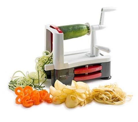 Westmark Stainless Steel Tri-Blade Vegetable Spiral Slicer Spiralizer