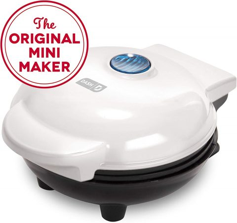 Dash Mini Maker The Mini Waffle Maker Machine for Individual Waffles, Paninis, Hash browns, & other on the go Breakfast, Lunch, or Snacks - White