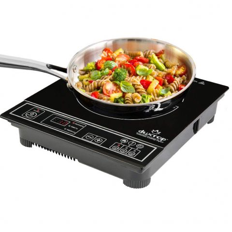 Duxtop 1800W Portable Induction Cooktop Countertop Burner, Silver
