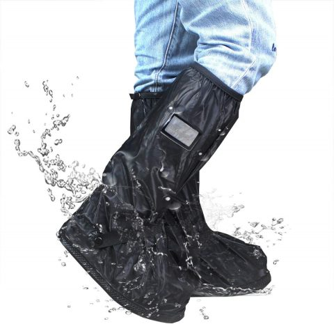 Frelaxy Waterproof Rain Boot Shoe Cover with Reflector, Reusable & Foldable Rain Boots, Rain Snow Gear for Cycling Motorcycle Fishing Men Women Kids