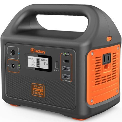 Jackery Portable Power Station Explorer 160, 167Wh Lithium Battery Solar Generator (Solar Panel Optional) Backup Power Supply with 110V100W(Peak 150W) AC Outlet for Outdoors Camping Fishing Emergency