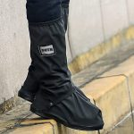 USHTH Black Waterproof Rain Boot Shoe Cover with reflector