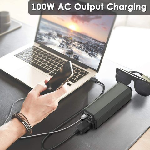 AC Outlet Portable Laptop Power Bank, Universal 116Wh31200mAh 100W Travel Laptop Charger, External Battery Pack for MacBook, Acer, HP, Samsung, Dell, ASUS, Lenovo, Notebook