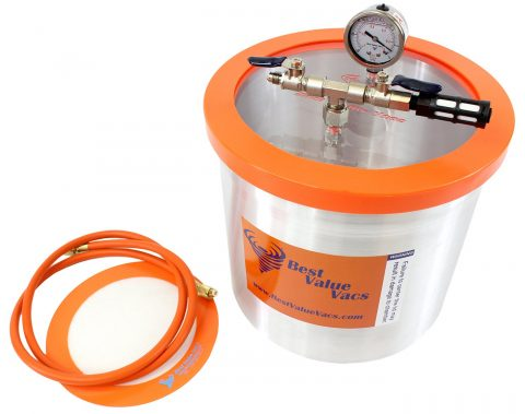3 Gallon Aluminum Vacuum Chamber to Degass Urethanes, Silicones and Epoxies