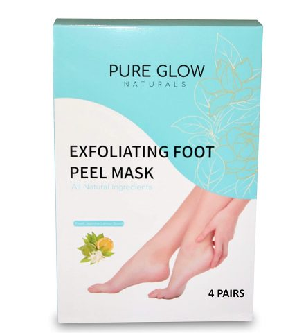 4 PAIRS Soft Exfoliating Foot Peel Mask, Makes feet Baby soft and Removes Calluses, Dead and Dry Skin