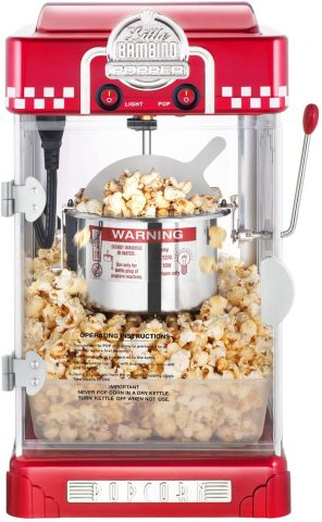 6073 Great Northern Red Little Bambino Table Top Retro Machine Popcorn Popper, 2.5oz