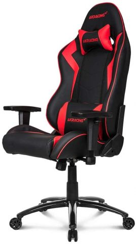 AKRacing Core Series SX Gaming Chair with High Backrest, Recliner, Swivel, Tilt, Rocker and Seat Height Adjustment Mechanisms with 510 Warranty - Red