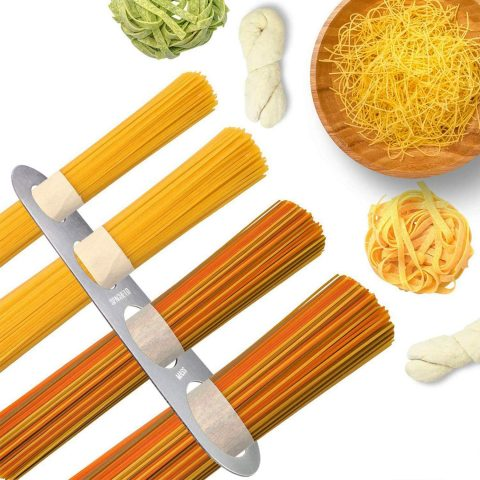 AxeSickle Stainless Steel Spaghetti Measurer Tool Pasta Portion Control Gadgets with 4 Serving Portion Cooking Tool