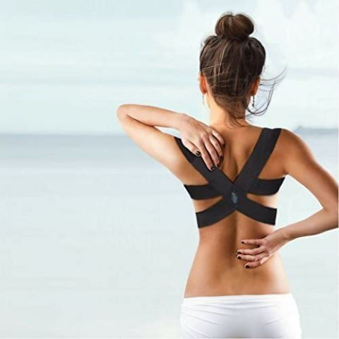 Berlin & Daughter - Posture Corrector - Breathable Clavicle Chest Back Support Brace which Improves Posture & Back Pain Relief - Perfect for Women & Girls Medium