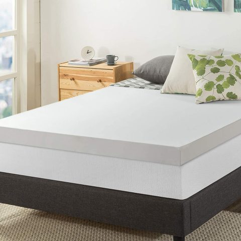 Best Price Mattress 4 Memory Foam Mattress Topper, Queen