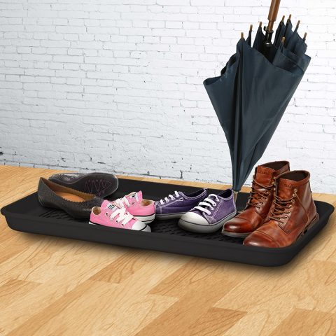 Boot Tray Shoes Mat Ideal For Plants Entryway Pet Food Dog Water Bowls Cat Litter Wet Paint Snow Extra Large Multipurpose Waterproof Mud Room Organizer Spill Containment Protects Floors By Real