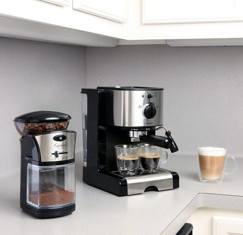 Capresso 116.04 Pump Espresso and Cappuccino Machine EC100, Black and Stainless