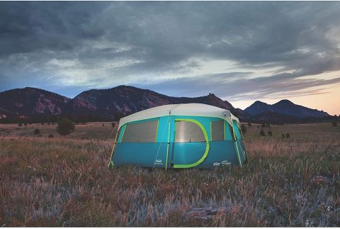 Coleman 8-Person Camping Tent with Built-in Closet  Tenaya Lake Cabin Tent with Fast Pitch Setup