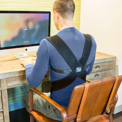 ComfyMed® Posture Corrector Clavicle Support Brace CM-PB16 Device to Improve Bad Posture, Thoracic Kyphosis, Shoulder Alignment, Upper Back Pain Relief for Men and Women (REG (29-40 Chest))