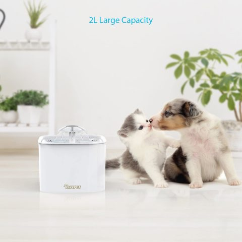DADYPET Cat Water Fountain, Automatic Pet Water Fountain Dog Water Dispenser, 2L2.8L Super Quiet Flower Drinking Fountain for Dogs, Cats and Small Animals