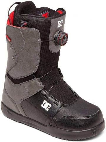 DC Scout BOA Snowboard Boots Mens Sz 11.5 GreyBlack
