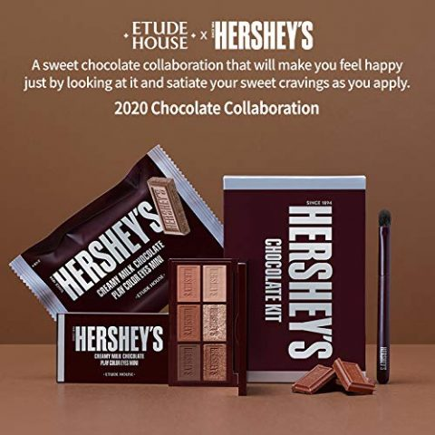 ETUDE HOUSE HERSHEY's Chocolate Brush Kit #Original - Play Color Eyes Mini Eyeshadow Palette & Brush - Special Limited edition