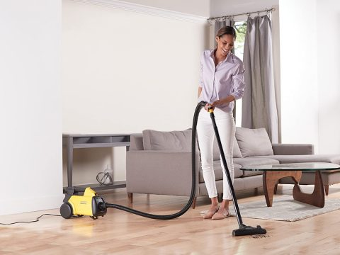 Eureka Mighty Mite 3670G Corded Canister Vacuum Cleaner, Yellow, 3670 w 2bags