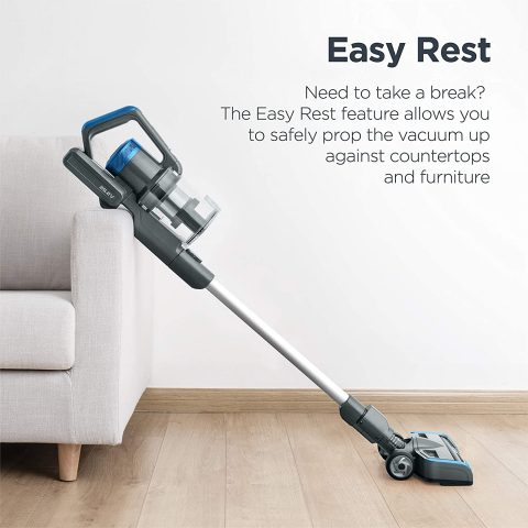 Eureka Stylus Lightweight Cordless Vacuum Cleaner, 350W Powerful BLDC Motor for Multi-Flooring Deep Clean LED Headlights, Convenient Stick and Handheld Vac, Premium, Blue