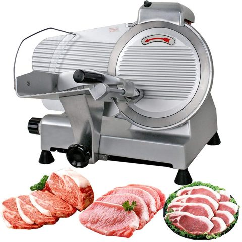 F2C Professional Stainless Steel Semi-Auto Meat Slicer Electric Food Slicer, DeliVeggies, 240W 530 RPM (Model #01)