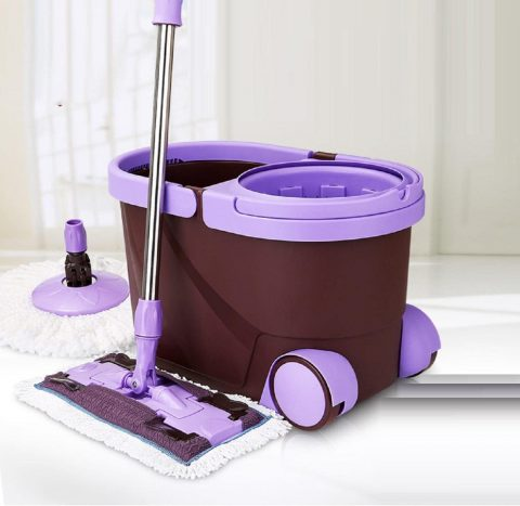 GAOJIAN spin Mop bucket Portable Magic double drive Stainless steel hand pressure rotating with head household floor cleaning set