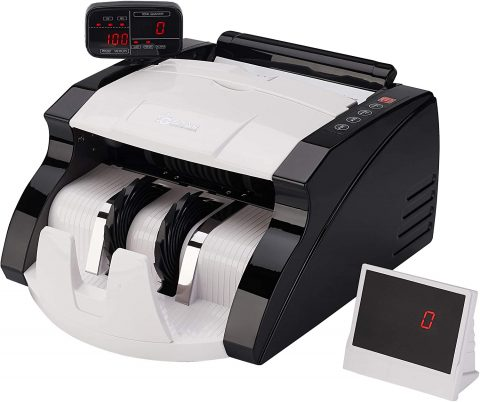GStar Money Counter with UVMG Counterfeit Bill Detection Plus External Display and 2 Year Warranty