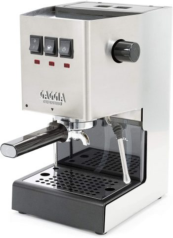 Gaggia RI938046 Classic Pro Espresso Machine, Solid, Brushed Stainless Steel