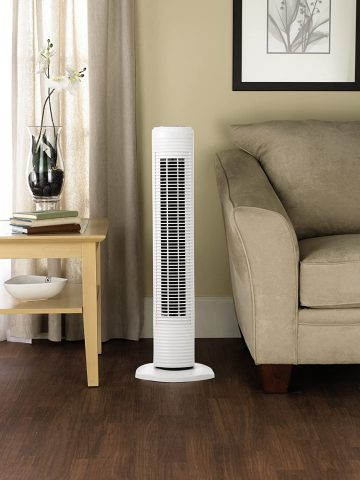HOLMES HTF3110A-WM Oscillating Tower Fan, White