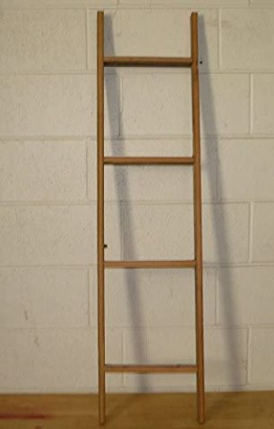 Handcrafted 4 Foot Barn Wood Decorative Ladder