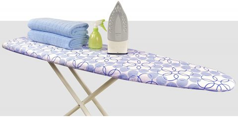 "Hansprou Scorch Resistance Ironing Board Cover and Pad Resists Scorching and Staining Ironing Board Cover with Heavy Duty Padded 2 Fasteners 15""X 54"""