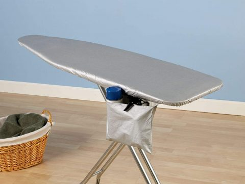 Household Essentials 81009 Replacement Ironing Board Cover and Pad for Standard Ironing Boards - Silver Silicone Coated