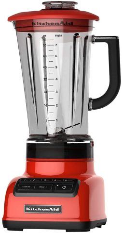 KitchenAid KSB1575HT 5-Speed Diamond Blender with BPA-Free Pitcher, 60 oz, Hot Sauce (Renewed)