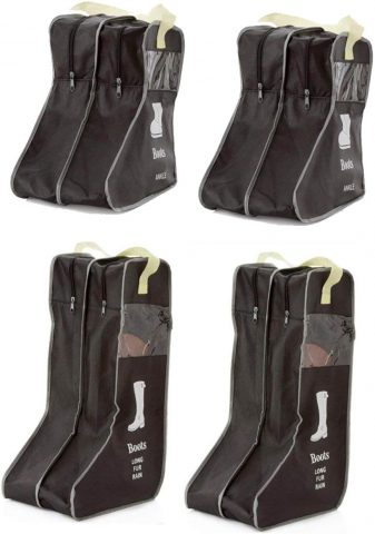 LanHeng Portable 4 Packs,18.5 Tall Boots Short Boots StorageProtector Bag,Boots Cover (Black