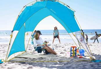 Lightspeed Outdoors Tall Canopy, Beach Shelter, Lightweight Sun Shade Tent with One Shade Wall Included