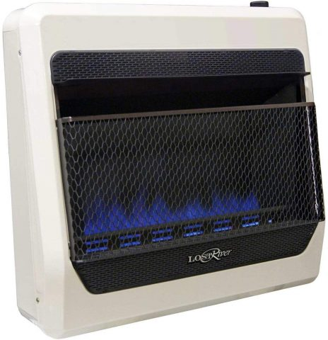 Lost River LRT30B-NG Natural Ventless Blue Flame Gas Space Heater, 30,000 BTU