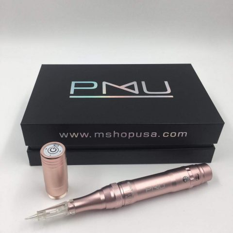 M PMU Permanent Make Up WirelessCordless Tattoo Machine - Ombre Powder Brows Miroblading Shading Eyeliner Lip Microshading Tattoo Permanent Make Up (Pink)