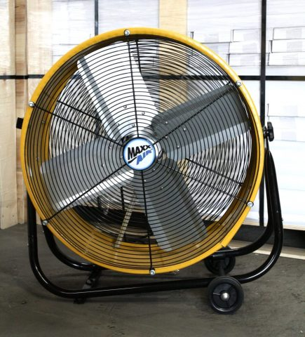 Maxx Air Industrial Grade Air Circulator for Garage, Shop, Patio, Barn Use 24-Inch High Velocity Drum Fan, Two-Speed