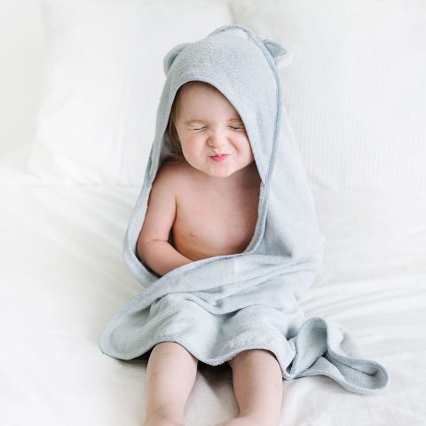 Natemia Bamboo Hooded Baby Bath Towel Highly Absorbent, Plush, Soft & Odor Resistant Baby Towel for Newborns , Infants and Toddlers Great Baby Shower Gift - Made in Turkey