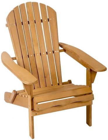New Outdoor Wood Adirondack Chair Garden Furniture Lawn Patio Deck Seat Decor Home Gift
