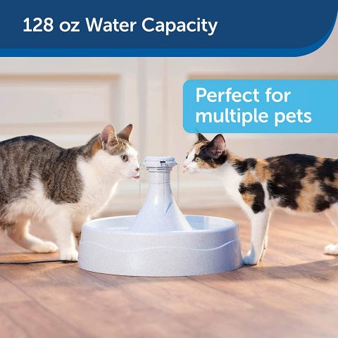 PetSafe Drinkwell 360 Cat and Dog Water Fountain - Automatic Drinking Dispenser for Pets - 128 oz