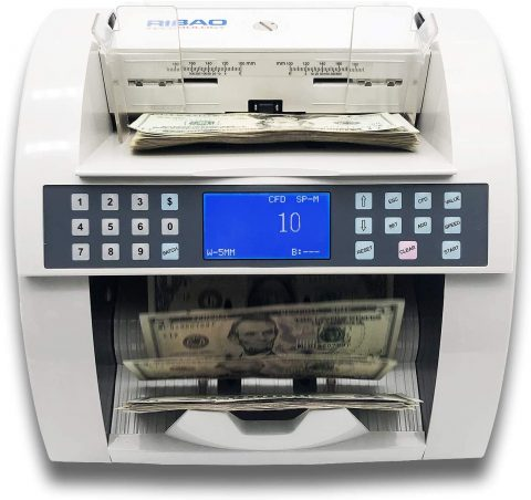 Ribao BC-2000VUVMG Heavy Duty High Speed Currency Counter UVMG Counterfeit Money Counter, Two-Year After Service
