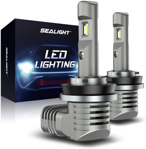 SEALIGHT Scoparc S2 H11H8H9 LED Headlight Bulbs, H11 LED Low BeamFog Light, 11 Halogen Bulb Design, 6000K Bright White