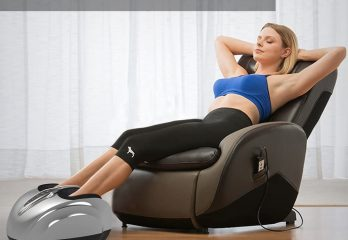 SereneLife SLFTMSG35 Shiatsu Foot Massager - Shiatsu Therapy for Heels, Toes and Ankles for Pain Relief and Comfort, Heat Function and Different Intensity Levels, with Remote Control