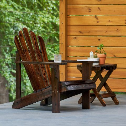 Shine Company Inc. 4611BB Westport Adirondack Chair, Burnt Brown