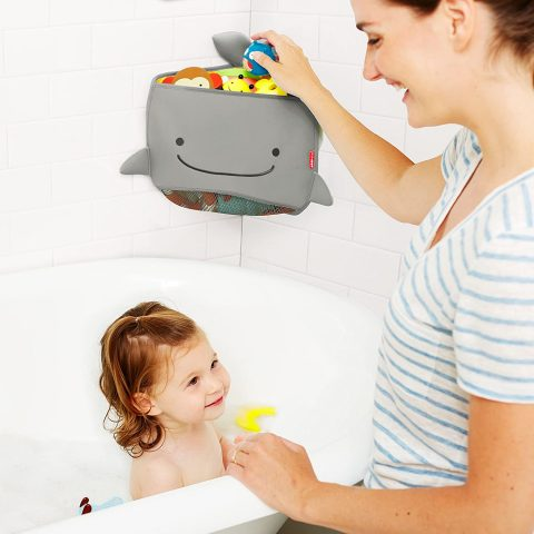 Skip Hop Moby Bath Toy Organizer For Babies And Toddlers, Corner Bath Tub Storage
